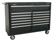 Sealey AP5213TB Rollcab 13 Drawer with Ball Bearing Runners - Black