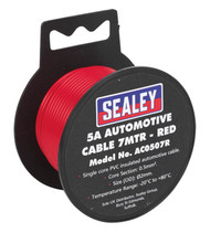 Sealey AC0507R Automotive Cable Thick Wall 5A 7mtr Red