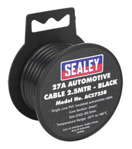 Sealey AC2725B Automotive Cable Thick Wall 27A 2.5mtr Black