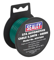 Sealey AC2725G Automotive Cable Thick Wall 27A 2.5mtr Green