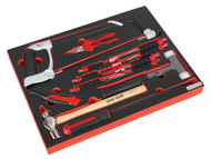 Sealey TBTP06UK Tool Tray with Hacksaw, Hammers & Punches 13pc