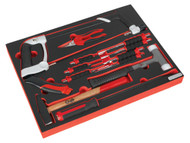 Sealey TBTP06EU Tool Tray with Hacksaw, Hammers & Punches 13pc