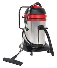 Sealey PC85 Vacuum Cleaner Industrial Wet & Dry Twin Motor 75ltr Stainless Drum 1200/2400W