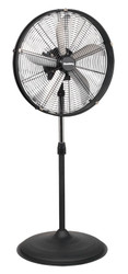 "Sealey HVF20PO Industrial High Velocity Oscillating Pedestal Fan 20"" 230V"
