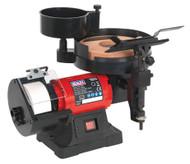 Sealey SMS2107 Bench Grinder/Sharpener Wet & Dry åø200/125mm 250W/230V