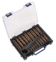 Sealey DBS170CB HSS Cobalt Fully Ground Drill Bit Assortment 170pc 1-10mm