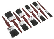Sealey SPBS9 Pure Bristle Paint Brush Set 9pc
