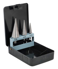 Sealey AK4746 HSS 4341 Step Drill Bit Set 3pc Double Flute