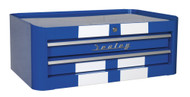 Sealey AP28102BWS Mid-Box 2 Drawer Retro Style - Blue with White Stripes
