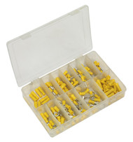 Sealey AB041YT Crimp Terminal Assortment 140pc Yellow