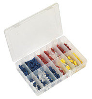 Sealey AB038MT Crimp Terminal Assortment 200pc Blue, Red & Yellow