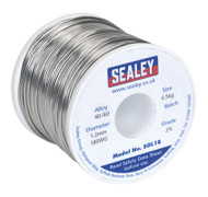Sealey SOL18 Solder Wire Quick Flow 1.2mm/18SWG 40/60 0.5kg Reel