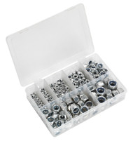 Sealey AB033LN Nylon Lock Nut Assortment 255pc M4-M16 DIN 985