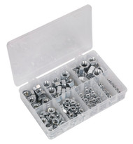 Sealey AB046SN Steel Nut Assortment 255pc M4-M16 DIN 934 Metric