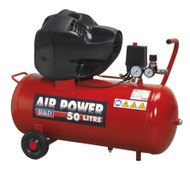 Sealey SAC05030F Compressor 50ltr V-Twin Belt Drive 3hp Oil Free