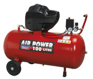 Sealey SAC10030F Compressor 100ltr V-Twin Belt Drive 3hp Oil Free