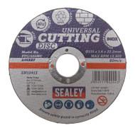 Sealey PTC/115MC Multipurpose Cutting Disc åø115 x 1.6mm 22.2mm Bore