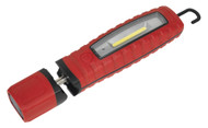 Sealey LED3603R Rechargeable 360åÁ Inspection Lamp 3W COB + 3W LED Red Lithium-ion