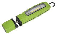 Sealey LED3603G Rechargeable 360åÁ Inspection Lamp 3W COB + 3W LED Green Lithium-ion