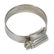 Sealey SHCSS1A Hose Clip Stainless Steel åø25-38mm Pack of 10