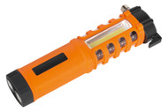 Sealey LED059 Emergency Torch/Belt Cutter/Hammer - 2W COB + 16 Red LED + 1W LED