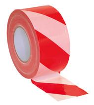 Sealey BTRW Hazard Warning Barrier Tape 80mm x 100mtr Red/White Non-Adhesive