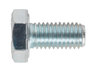 Sealey SS1020 HT Setscrew M10 x 20mm 8.8 Zinc DIN 933 Pack of 25