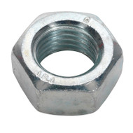 Sealey SN20 Steel Nut M20 Zinc DIN 934 Pack of 10