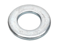 Sealey FWA1021 Flat Washer M10 x 21mm Form A Zinc DIN 125 Pack of 100