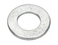 """Sealey FWI105 Flat Washer 1/4"""" x 9/16"""" Table 3 Imperial Zinc BS 3410 Pack of 100"""