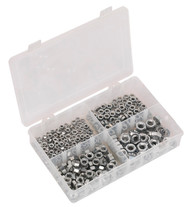 Sealey AB028SN Steel Nut Assortment 370pc M5-M10 DIN 934 Metric