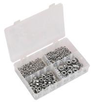 Sealey AB028SN Steel Nut Assortment 370pc M5-M10 DIN 934 Metric