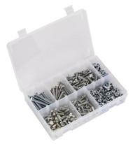 Sealey AB050SNW Setscrew, Nut & Washer Assortment 408pc High Tensile M6 Metric
