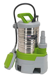 Sealey WPS225P Submersible Stainless Water Pump Automatic Dirty Water 225ltr/min 230V