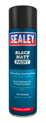 Sealey SCS026 Black Matt Paint 500ml Pack of 6
