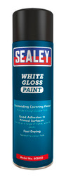 Sealey SCS032 White Gloss Paint 500ml Pack of 6