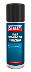 Sealey SCS035 Butane Gas Charger 200ml Pack of 6