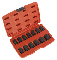 "Sealey AK5614M Impact Socket Set 13pc 1/2""Sq Drive 12pt"