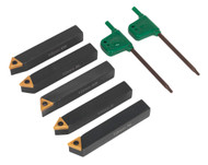 Sealey SM3025CS1 Indexable 10mm Lathe Turning Tool Set 5pc