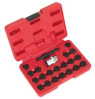 Sealey SX207 Locking Wheel Nut Key Set 22pc - BMW