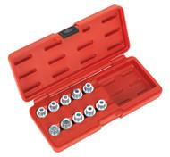 Sealey SX208 Locking Wheel Nut Key Set 10pc - BMW & Mini