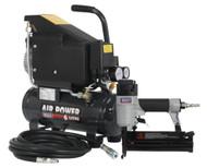 Sealey SAC0610EKIT Air Nail/Staple Gun Kit including Compressor, Hose & Nailer/Stapler