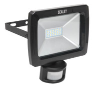 Sealey LED087 Floodlight with Wall Bracket & PIR Sensor 20W SMD LED 230V
