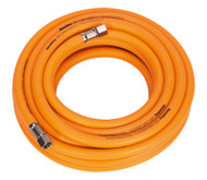"Sealey AHHC10 Air Hose 10mtr x åø8mm Hybrid High Visibility with 1/4""BSP Unions"