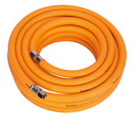 "Sealey AHHC1038 Air Hose 10mtr x åø10mm Hybrid High Visibility with 1/4""BSP Unions"