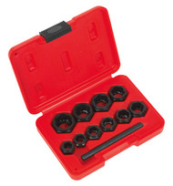 Sealey AK8183 Bolt Extractor Set 11pc Spanner Type