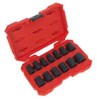 "Sealey AK5616M Impact Socket Set 13pc 1/2""Sq Drive Lock-Onå» 6pt Metric"