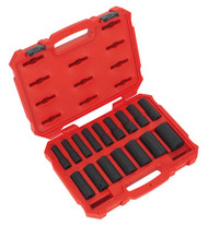 "Sealey AK5817M Impact Socket Set 16pc 1/2""Sq Drive Deep Lock-Onå» 6pt Metric"