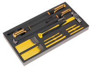 Siegen S01131 Tool Tray with Prybar, Hammer & Punch Set 23pc