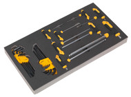 Siegen S01134 Tool Tray with T-Handle & Standard Hex Key Sets 26pc